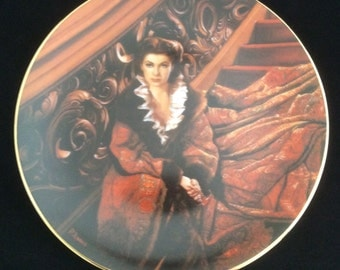 """Gone with the Wind Plate-""""Waiting for Rhett"""""""