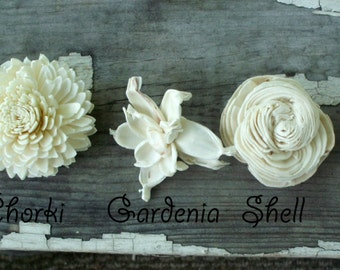 Sola flower sample, sola flowers, keepsake flowers, tapioca wood flowers