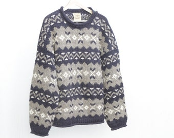 women's oversize cowichan NORDIC thick knit sweater thick SKI snowboard CABIN sweater