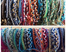 Braided Hemp Bracelet - You Design the Colors - Hippie Surfer Bracelet - Men or Women