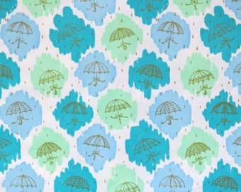 Vintage Dennison Mid-Century SHOWER - Gift Wrap - Wrapping Paper - UMBRELLAS - 1950s