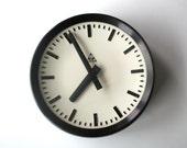 Original. Rare. Station Clock. Industrial Vintage. German. Pragatron (CW105)