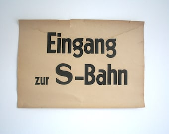 SALE 30% off! -  Vintage. Tram. Poster. German. Typography.