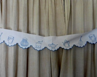 French Vintage, Shelf Trim, Hand Embroidery,  Shabby And Chic,  Rustic Country,  French Cuisine.