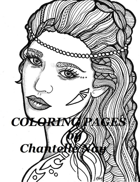 face coloring pages adults - photo#46