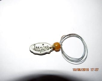 Inspire Pewter Jewelry Charm Bracelet Piece