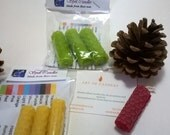 Beeswax Spell Candles - set of 3 - available in 10 colour choices. Ideal wedding favours