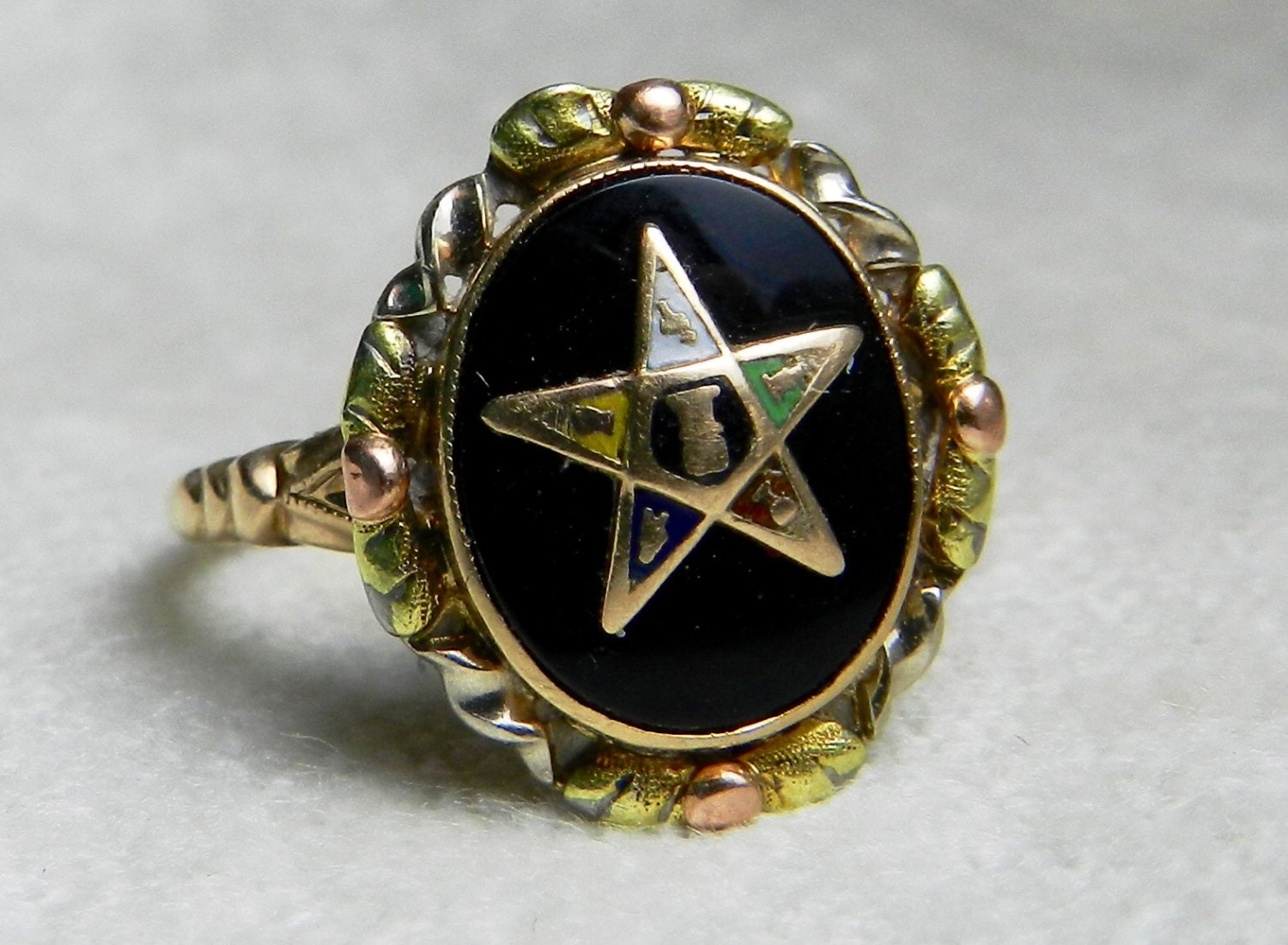masonic ring vintage order of the eastern by lovealwaysgalicia