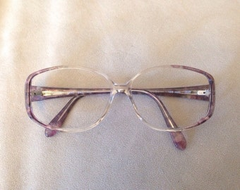 Tura plum & clear eyeglasses sunglasses frames Made in Israel 56-13-135