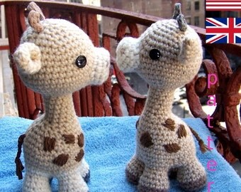 Baby Giraffe-Instant Download Crochet Pattern-Toy Giraffe-Amigurumi Giraffe-DIY Crochet Toy-Stuffed Toy Animal-Small Giraffe