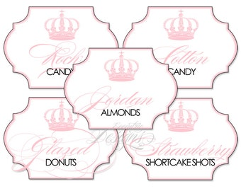 Coco Chanel Candy Buffet Labels - You Print - Coco Chanel Party | Princess Party | Coco Chanel Birthday | Coco Chanel Party Theme | Labels