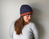 Navy Blue Hat / Orange Ha...