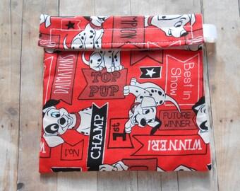 101 Dalmatians Red Dog Reusable Sandwich Bag
