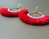 Handmade Cotton Tassles  Earring
