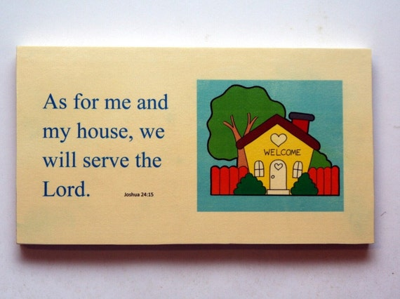 As For Me And My House Wall Decor Wood Sign Solid Wood