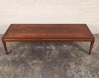 Lane Rhythm Walnut Mid-Century Modern Coffee Table / TV Stand ~ Mad Men / Eames Era Decor *Shipping NOT Included*