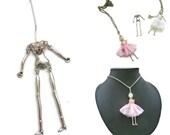 "2 metal doll naked body "" bambolina"" Doll Base 26x76mm"