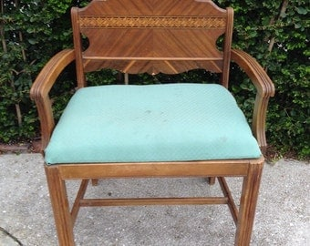 VINTAGE VANITY CHAIR Bench Foyer Accent Chair Seating Dressing Room