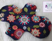 10 Inch Pad - Flowers Cotton Pad - Menstrual Pad - Reusable Pad - CSP - Cloth Sanitary Pad - Ready to Ship