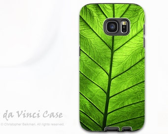 Green Leaf Galaxy Note 5 Case - Beautiful dual layer Galaxy Note Case with Tropical Leaf Art - Leaf of Knowledge - Galaxy Note 5 Cover
