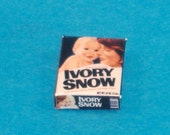 Miniature Vintage Box of Ivory Snow, Comfort Laundry Soap for Your Baby, Your Family and You -Great Accessory for Your Dollhouse, Shadow Box
