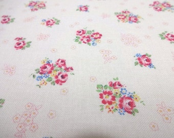 Japanese Fabric YUWA mini Flower Rose Bouquet FQ