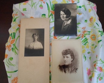 ON SALE vintage women's photos set of three