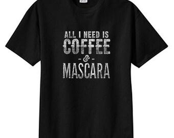 Coffee And Mascara New T Shirt S M L XL 2X 3X 4X 5X