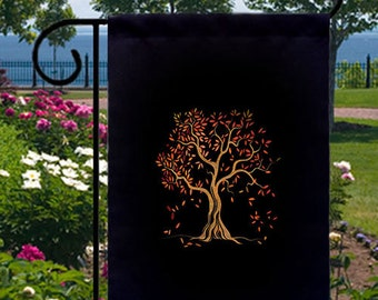 Autumn Tree Splendor New Small Garden Yard Flag Decor Gifts Fall