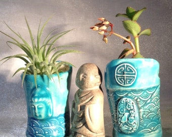ZEN GARDEN PLANTER, Windowsill Garden, Mini Planters, Buddha Planter, Desk Garden, Miniature Garden, Succulent Pots, Air Plant Pot, namaste