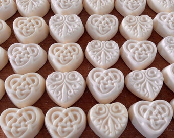 100 Wedding Soap Favors - Celtic Heart Soaps, 100 Baby Shower Soap Favors, 100 Guest Heart Soaps