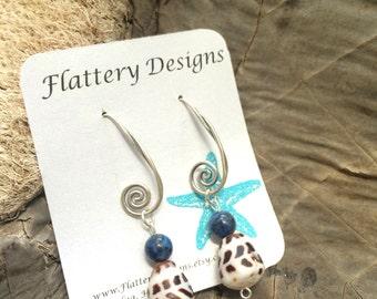 Swirly Hebrew Cone Shell Earrings