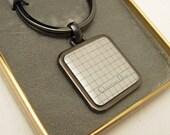 Christian Dior Keychain Gunmetal Silver In Box H757