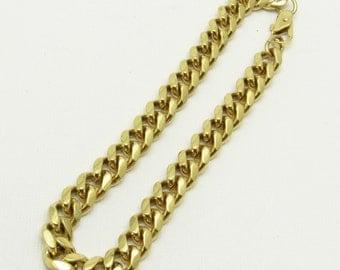 Mens Curb Link Bracelet 8 Inch Vintage Jewelry H802