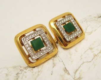 Givenchy Cufflinks Vintage Mens Rhinestone Jewelry H756