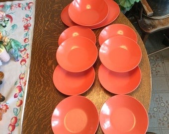 Retro Mel Mac Tagerine Lot Bowls and Platter