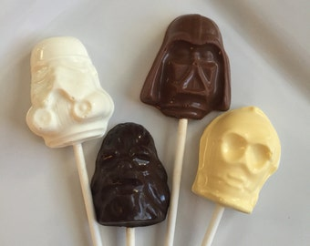 12 Assorted Star Wars Lollipops Birthday Party Candy Favors