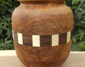 Native Inspired Decorative Vase Spalted Maple and Walnut Hand Turned