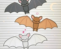 Chibi Bat Stickers and Magnets