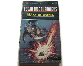 LLana Of Gathol, Mars #10,  Edgar Rice Burroughs 1963, Ballantine Books