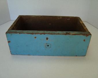 Blue Vintage Wooden Drawer