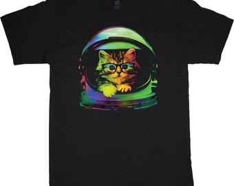 Men's T-shirt space cat t-shirt outer space