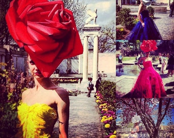 "Irina Shabayeva  ""ROSE"" headpiece."