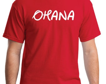OHANA T-shirt. Inspired from the Disney movie Lilo and Stitch