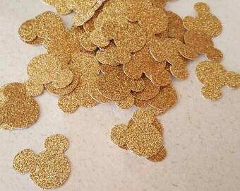 Gold Glittery Mickey Mouse confetti
