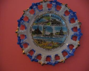 "8 1/4""   ""Hampton beach, N.H."" Plate"