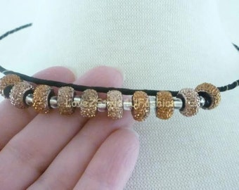 Fiber Art Necklace - Wearable Art Jewelry - Fashion Statement - Wrapped Fiber Art Statement Necklace - Stainless Steel Wire Choker