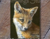 ACEO Fox Image - ACEO Trading Cards - Fox Print - Miniature Wildlife Print - Fox Image - ACEO Animal Cards -