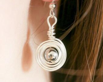 Silver Hematite Earrings, Sterling Silver Dangle Earrings, Hematite Earrings, Silver Drop Earrings, Gift Ideas