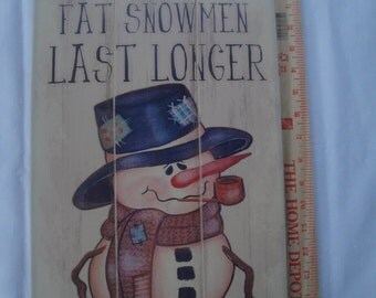 Wooden Snowman Wall Hanging